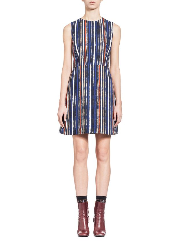 Marni Dress in double velvet Shades print Woman - 1