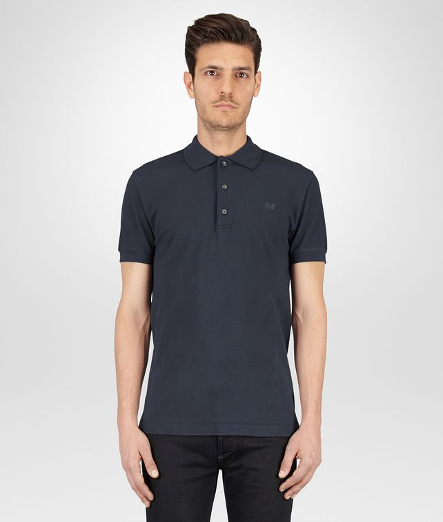 BOTTEGA VENETA POLO IN DARK NAVY PIQUET Polo And Tee Man fp