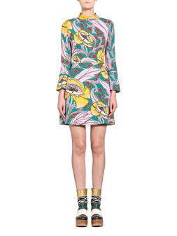 Marni Dress in viscose sablé Bellwoods print Woman