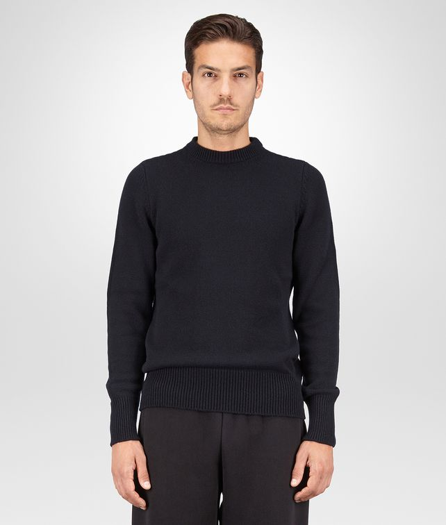 BOTTEGA VENETA SWEATER IN DARK NAVY CASHMERE Knitwear U fp