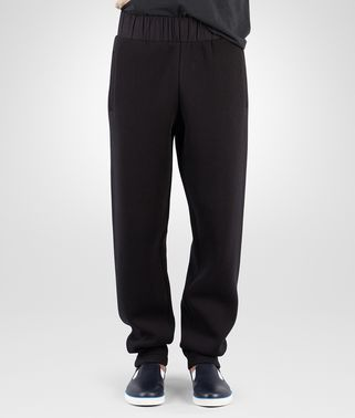 SWEAT PANTS IN NERO COTTON JERSEY
