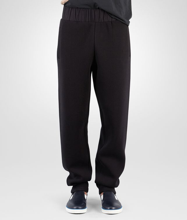 BOTTEGA VENETA SWEAT PANTS IN NERO COTTON JERSEY Trouser or jeans Man fp