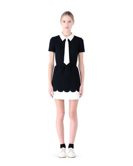 REDValentino Scallop detailed tech dress