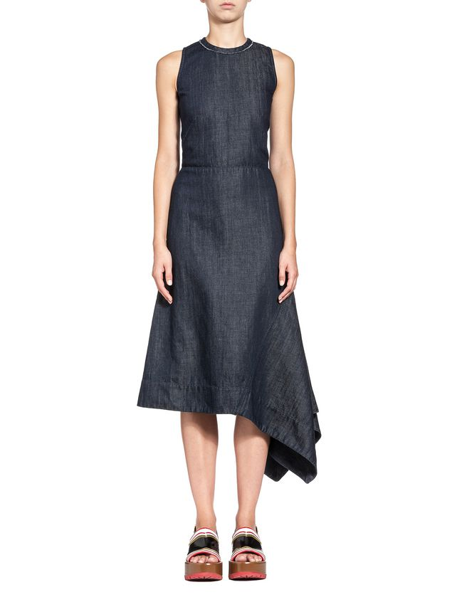 Marni Dress in stone-washed denim Woman - 1