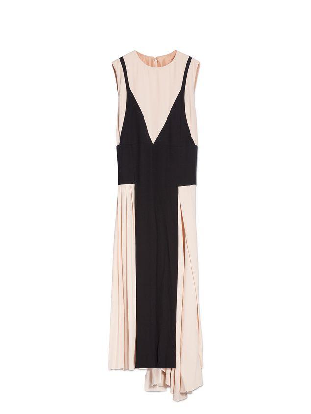 Marni Crewneck dress in crepe envers satin Woman - 2