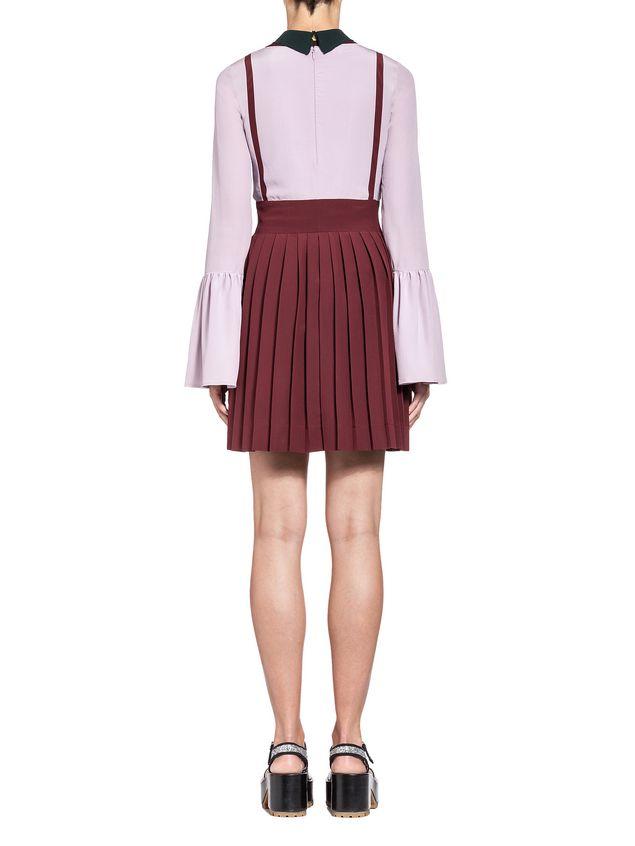 Marni V-neck  tunic in viscose sablé Woman