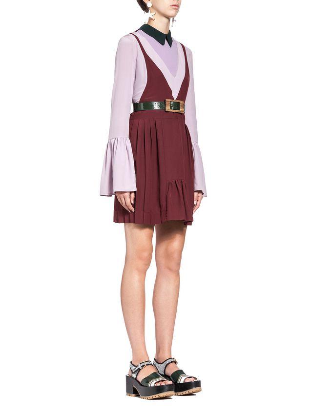 Marni V-neck  tunic in viscose sablé Woman - 4