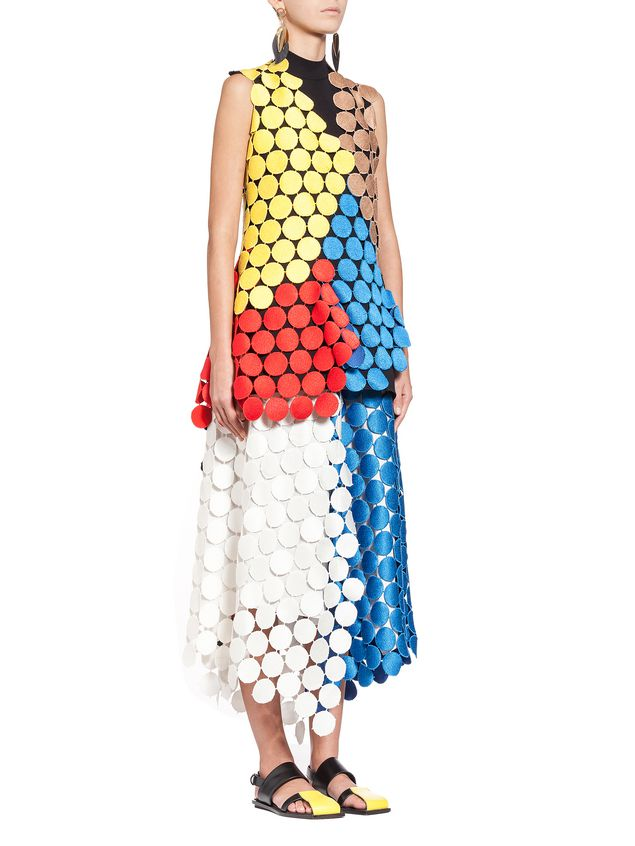 Marni Multicolored runway top in dot macramé Woman - 4