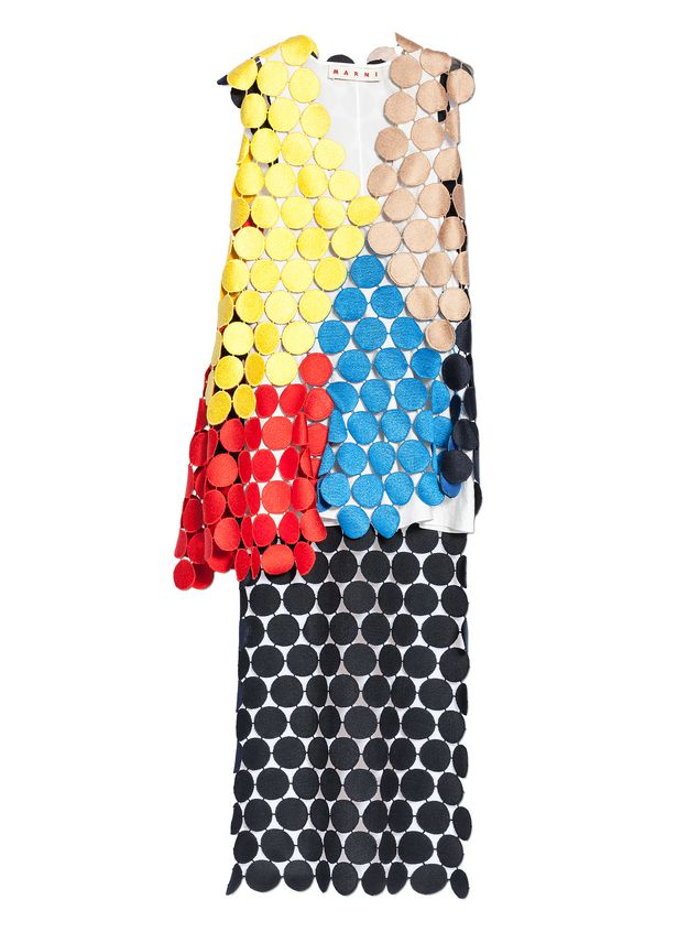 Marni Multicolored runway top in dot macramé Woman - 2