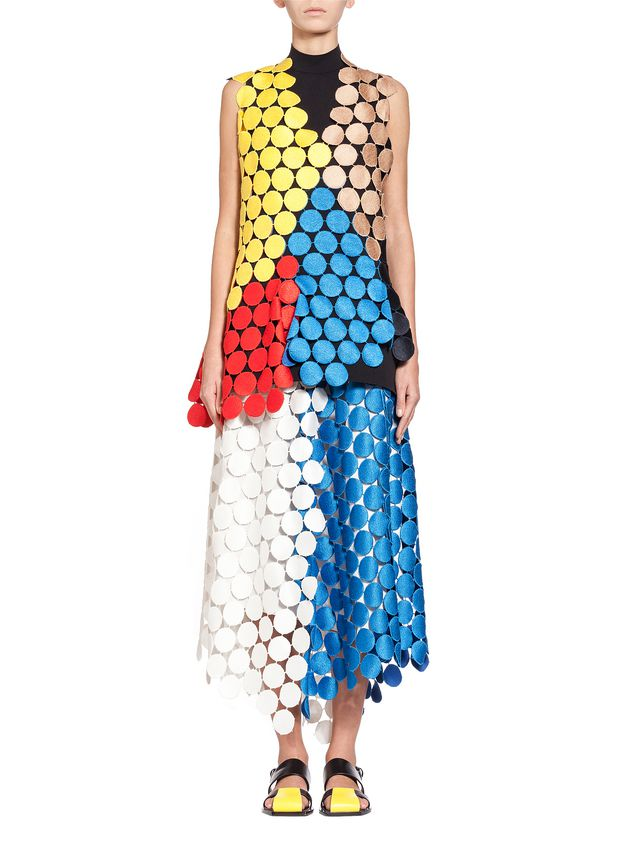 Marni Multicolored runway top in dot macramé Woman - 1