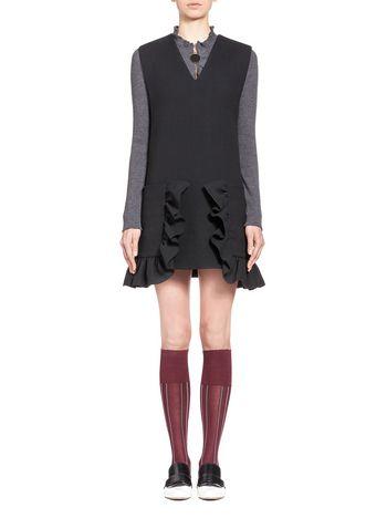 Marni Tunic in couture cotton crepe, maxi pockets Woman