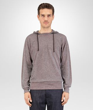 T SHIRT IN GREY VESUVIO COTTON JERSEY