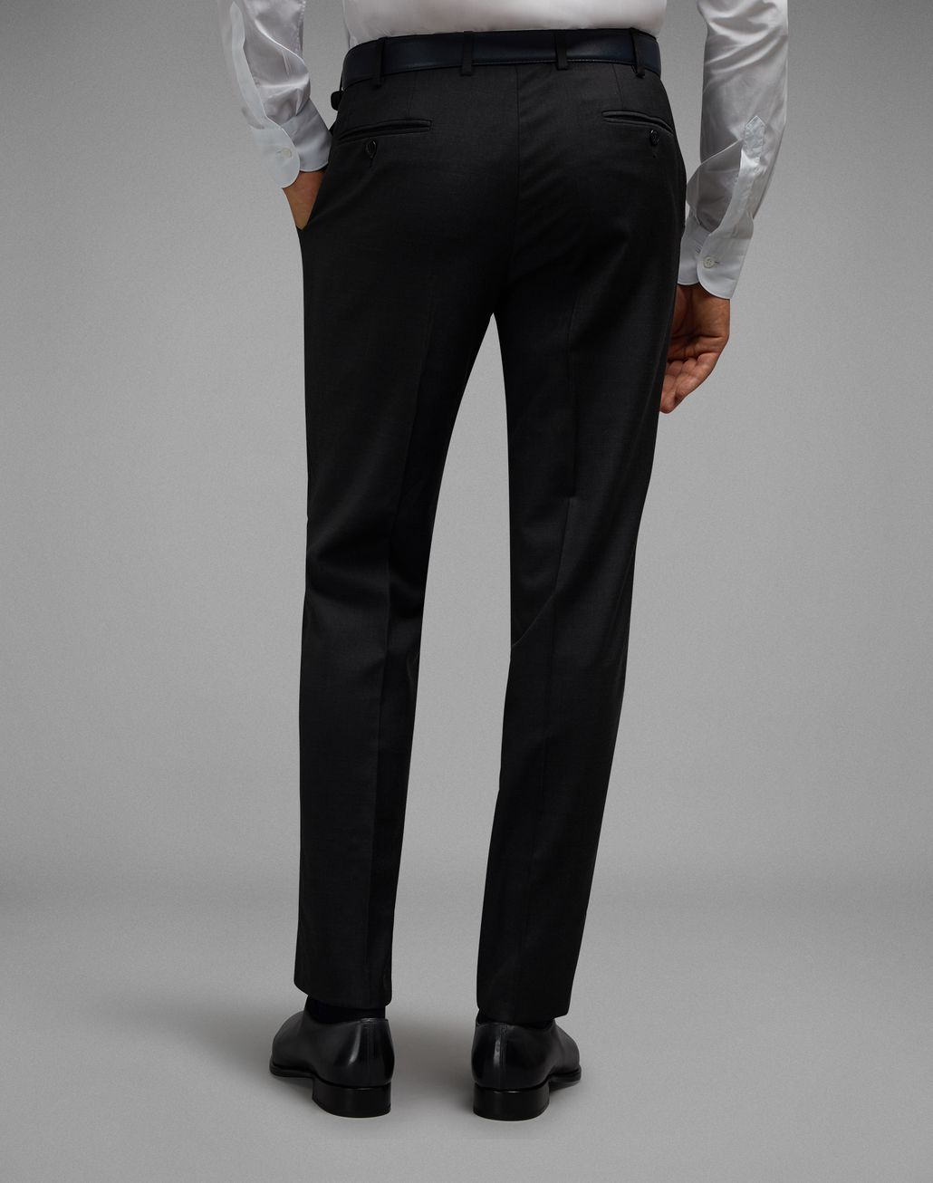 BRIONI Charcoal Tigullio Pants Trousers Man d
