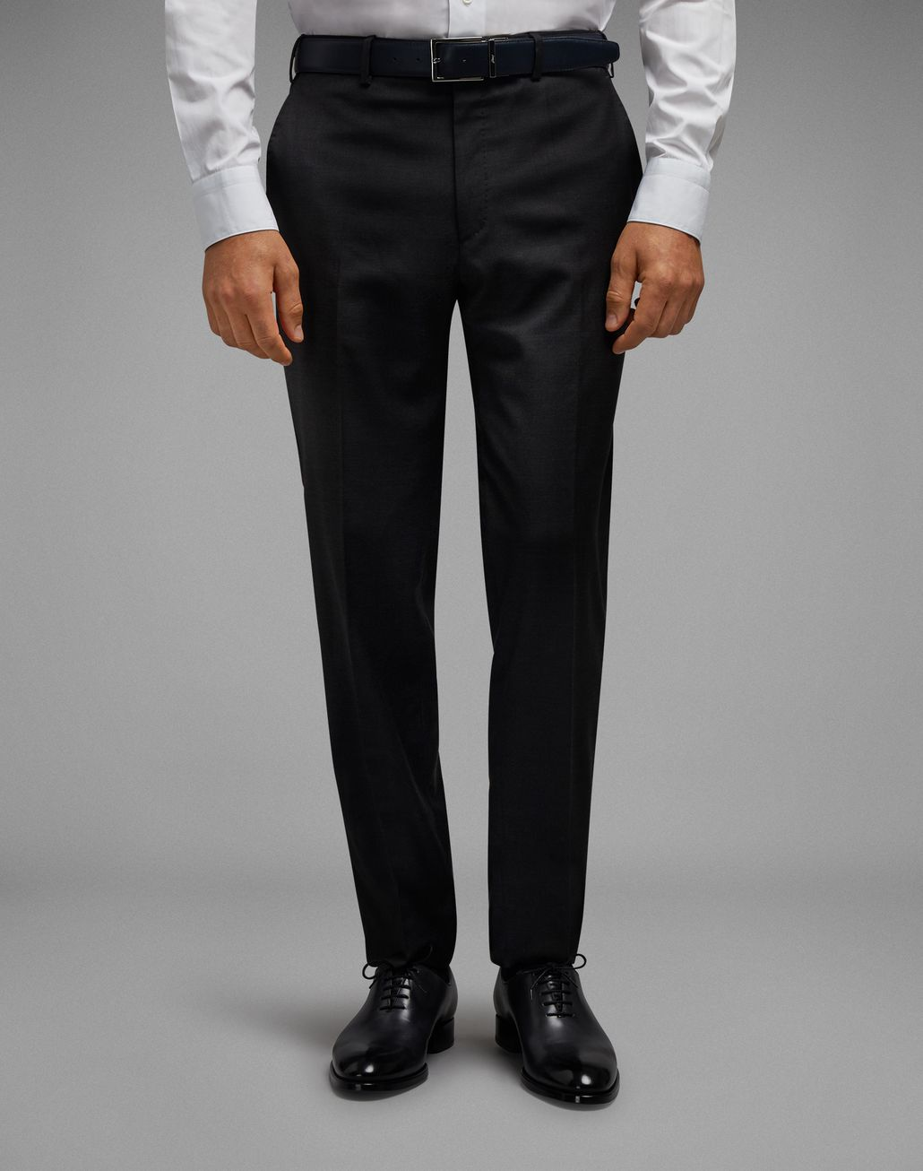 BRIONI Charcoal Tigullio Pants Trousers Man r