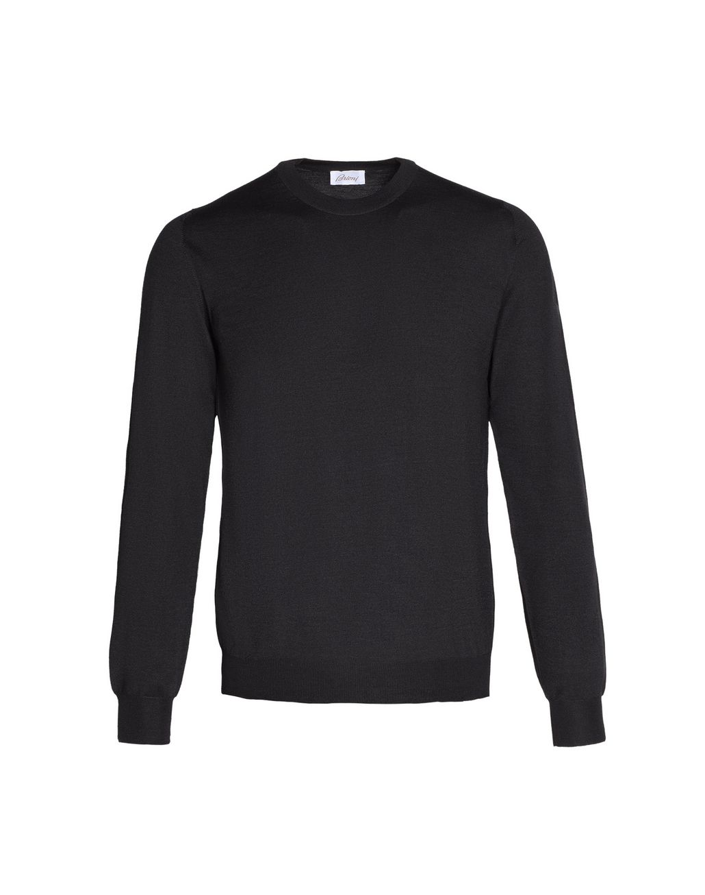 BRIONI Black Crew-Neck Sweater Knitwear Man f
