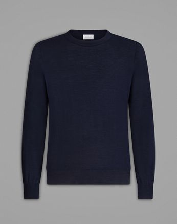 'Essential' Navy Blue Crew-Neck Sweater