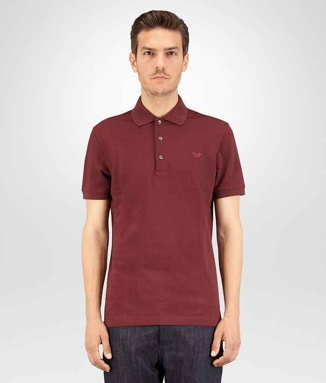 BOTTEGA VENETA POLO IN BAROLO COTTON PIQUET Polo And Tee [*** pickupInStoreShippingNotGuaranteed_info ***] fp