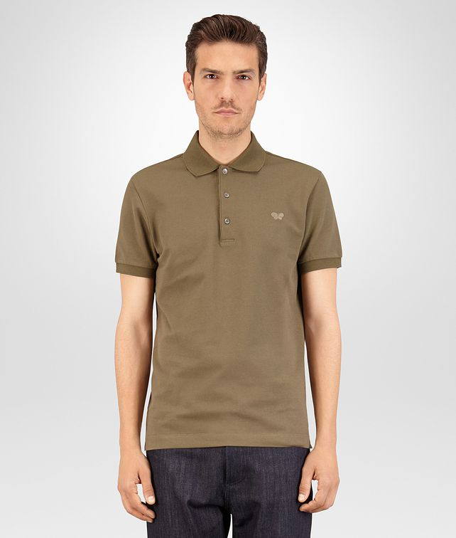 BOTTEGA VENETA POLO IN DARK SERGEANT COTTON PIQUET Polo And Tee U fp