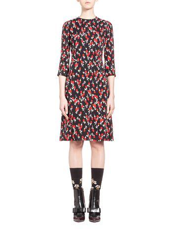 Marni Dress in sablé viscose, Rhythm print Woman