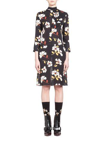 Marni Dress in Distal print silk georgette Woman