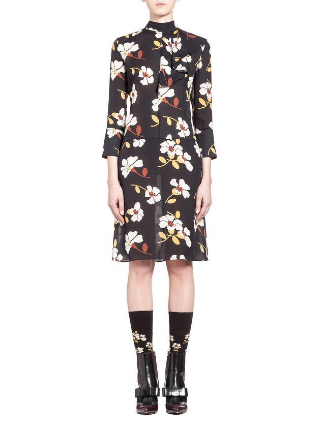 Silk Pois Printed Dress Spring/summer Marni Rrb6wmWk