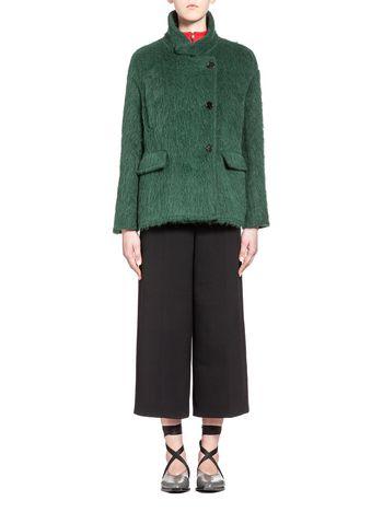 Marni Korean jacket in wool and alpaca fleece Woman