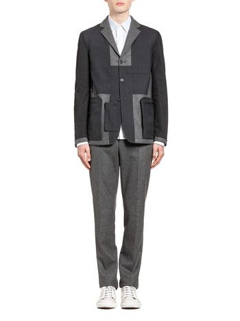Marni Reversible jacket with patchwork detail Man