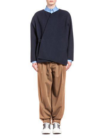Marni Wool jacket with half-belt Man