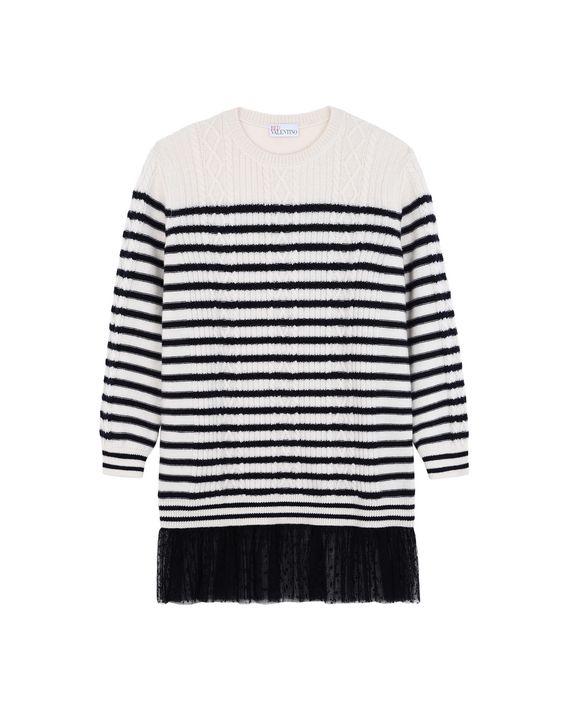 REDValentino Striped sweater dress  REDValentino Striped sweater dress ... 02fb090f3