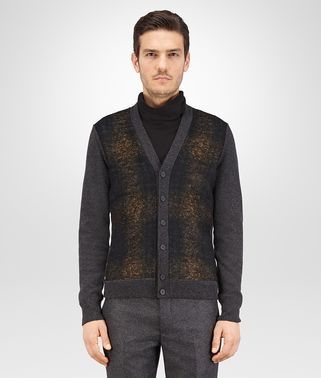 CARDIGAN IN CASHMERE DARK GREY E BRUSHED WOOL MULTICOLOR