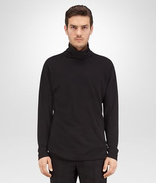 TURTLENECK IN NERO COTTON JERSEY