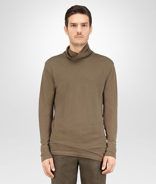 TURTLENECK IN DARK SERGEANT COTTON JERSEY
