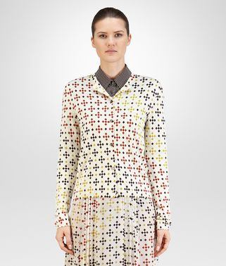 CARDIGAN IN MIST MULTICOLOR PRINTED SILK CASHMERE