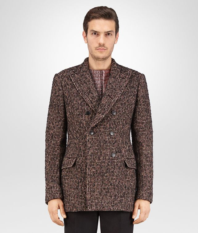 CABAN IN DARK BAROLO TWEED WOOL