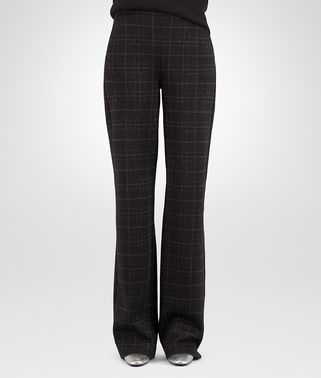 PANTALONE IN LANA LUREX NERO DARK GREY ANCIENT SILVER