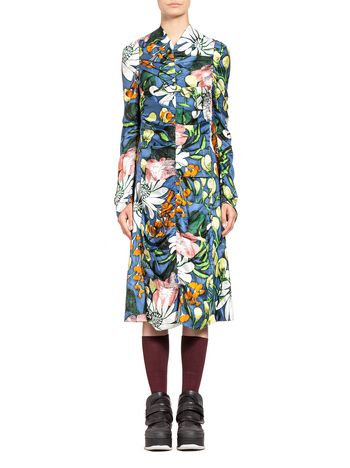 Marni Dress in silk twill Madder print Woman