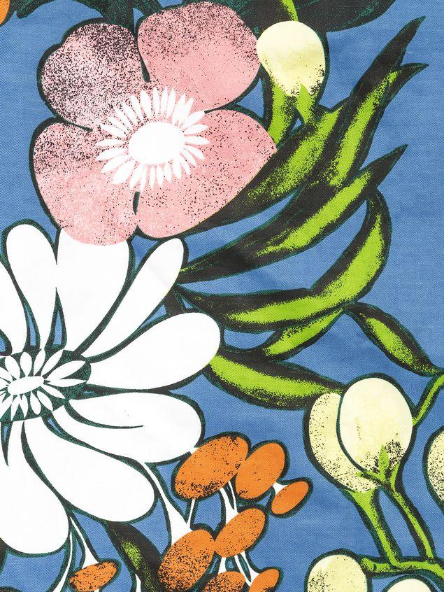 Marni Cotton linen drill dress, Madder print Woman - 4