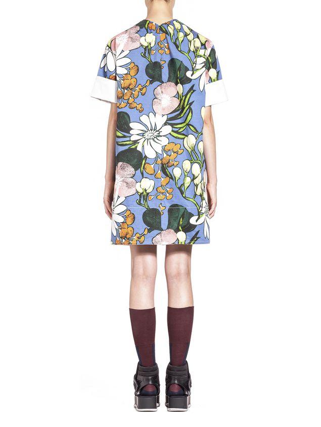 Marni Cotton linen drill dress, Madder print Woman - 3