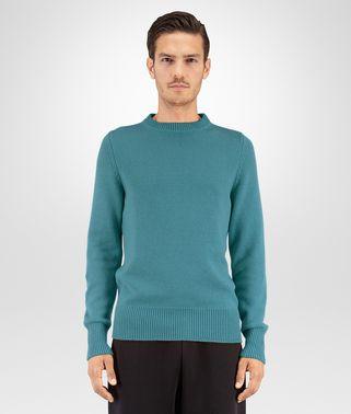 深蓝色蓝羊绒毛衣