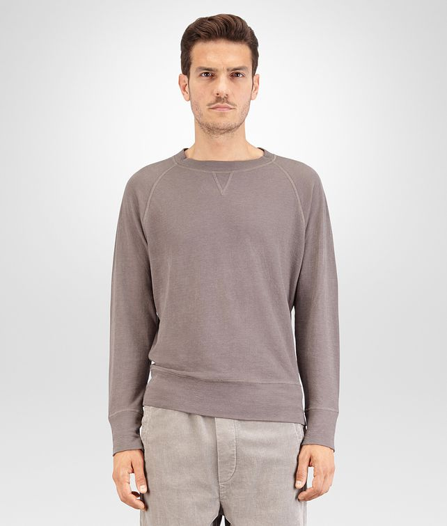 BOTTEGA VENETA T SHIRT IN STEEL COTTON JERSEY Polo And Tee U fp