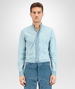CHEMISE EN POPELINE DE COTON AIR FORCE BLUE