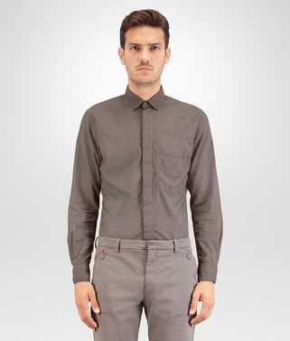 SHIRT IN STEEL COTTON POPLIN