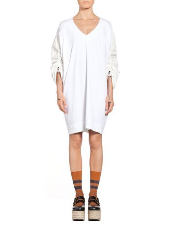 Marni Dress in cotton jersey with drawstring Woman