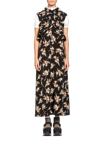 Marni Dress in silk crepe Rustle print Woman