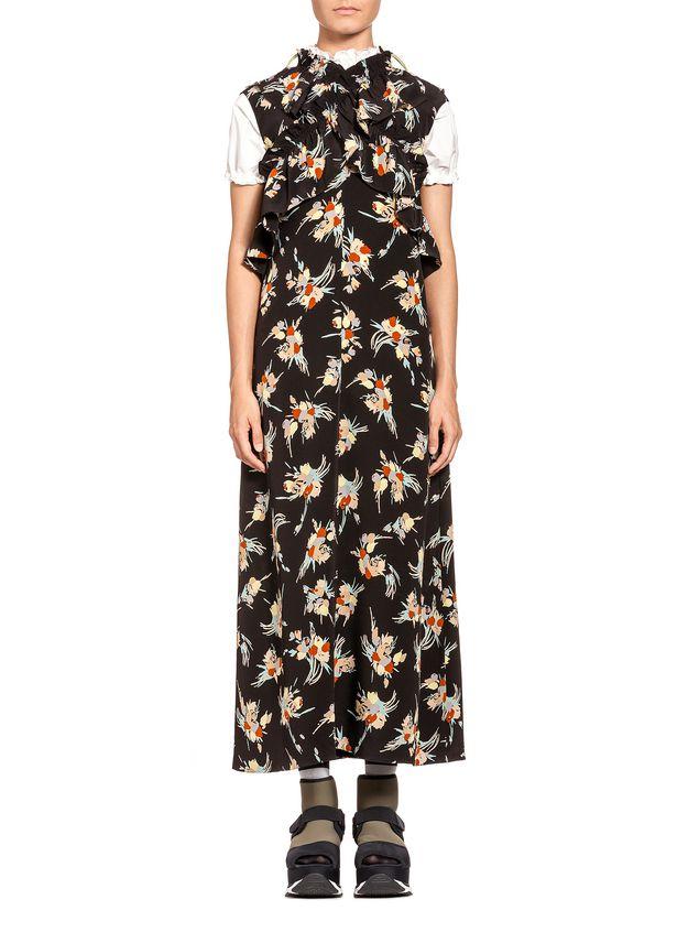 Printed silk dress Marni LzrVn17oE