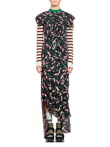 Marni Dress in sable viscose Shatter print Woman
