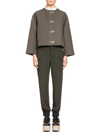 Marni Boxy jacket in cotton cady Woman