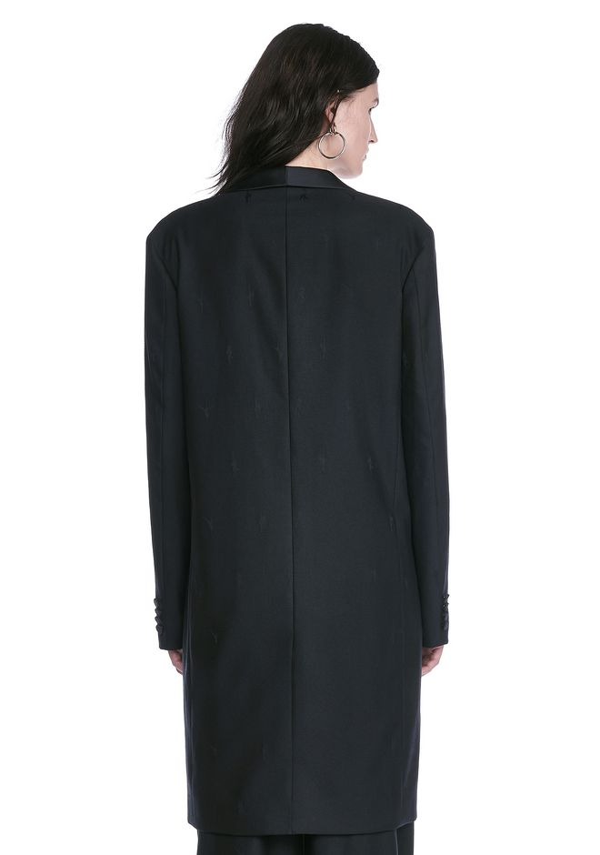 ALEXANDER WANG EXOTIC DANCER ELONGATED SHAWL COLLAR BLAZER  BLAZER Adult 12_n_d