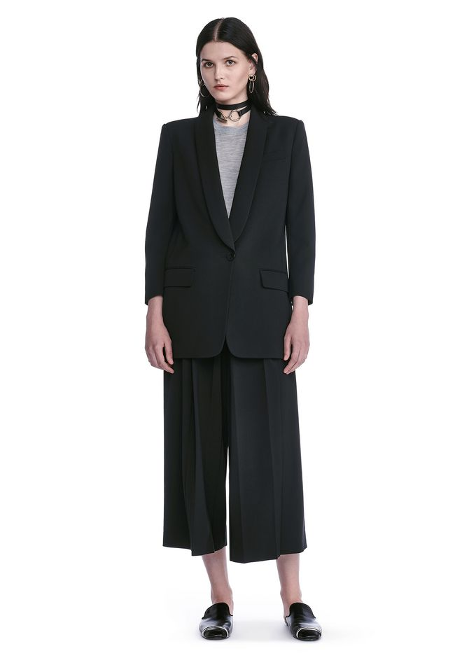ALEXANDER WANG BLAZERS SINGLE BREASTED SHAWL COLLAR BLAZER