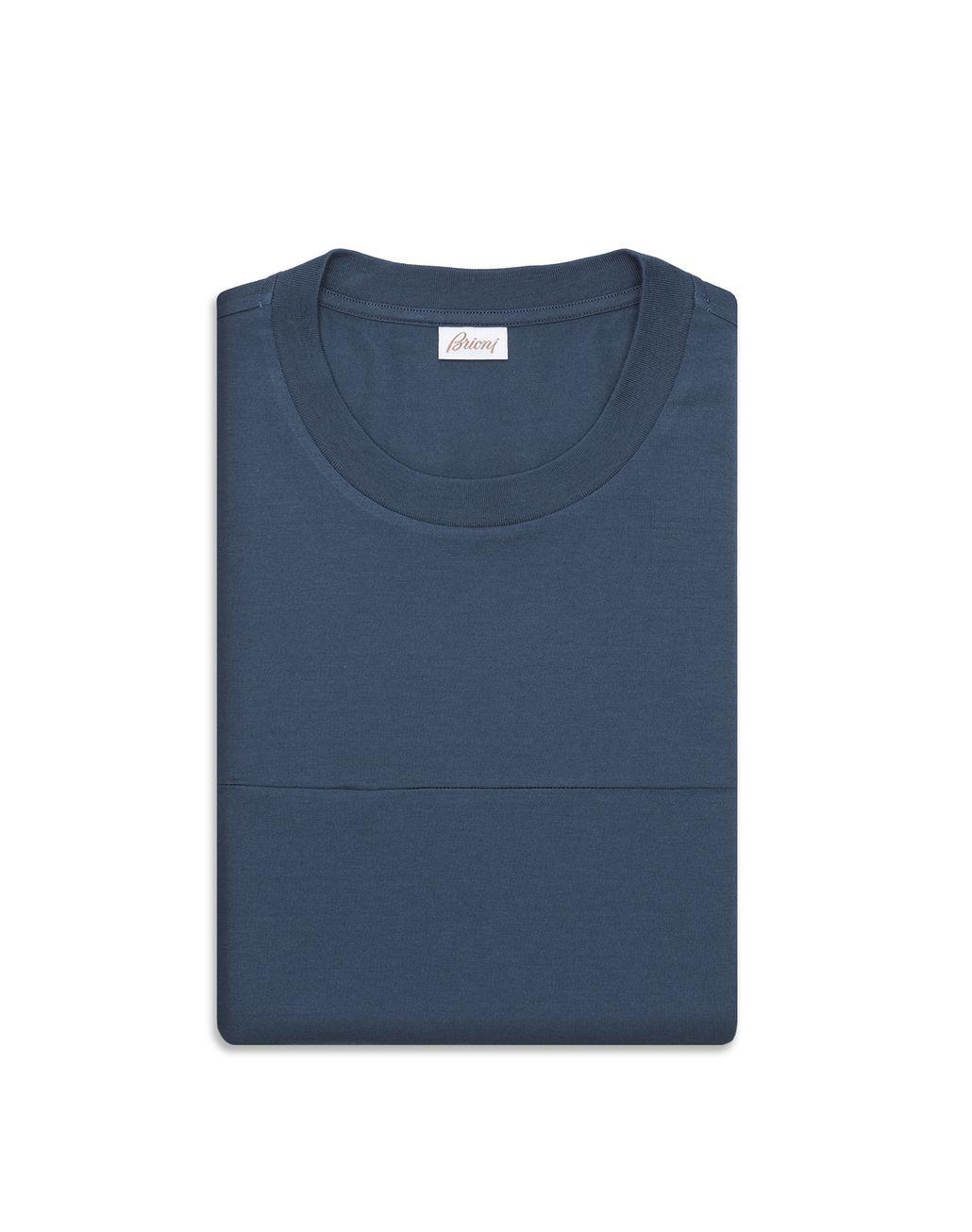 BRIONI Petrol Blue T-Shirt T-Shirts & Polos Man f